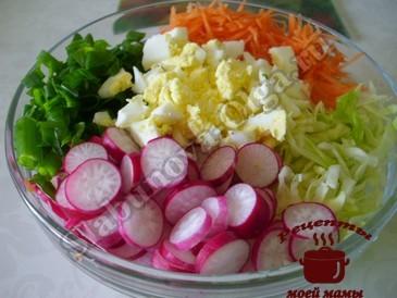 Салат из капусты, режем