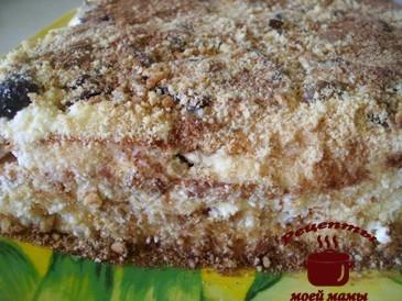 Торт из печенья слоями готов