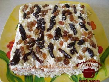 Торт из печенья слоями