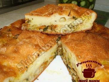 Пирог с капустой на кефир