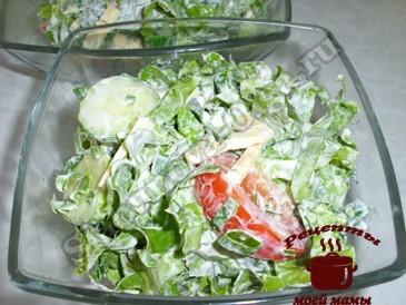 Салат из зеленого салата