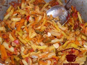 Салат на зиму из спаржевой фасоли