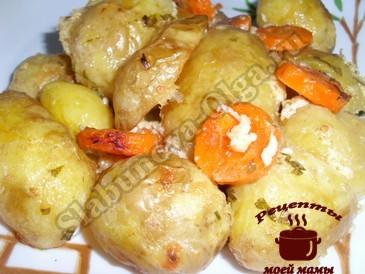 Картофель запеченный в соусе
