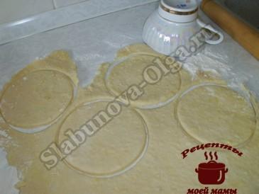 Пирожки с яблоками, формируем пирожки