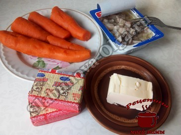 Икра с морковью, ингредиенты