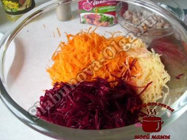 Овощная икра, измельчаем овощи