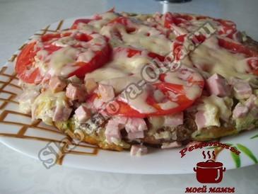 Кабачковая пицца готова