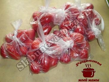 Заготовки на зиму, упаковываем помидоры