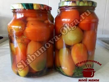 Маринованные помидоры, заливаем