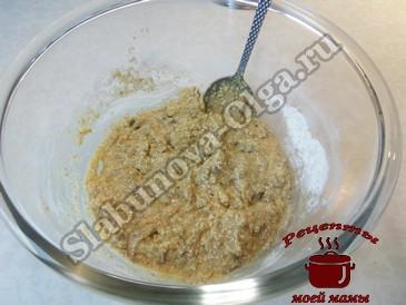 Овсяное печенье, готовим тесто
