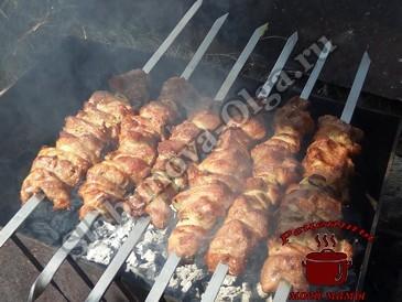Шашлык из свинины, готовим