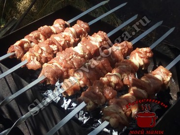 Шашлык из свинины, жарим