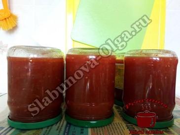 Домашний кетчуп, переворачиваем