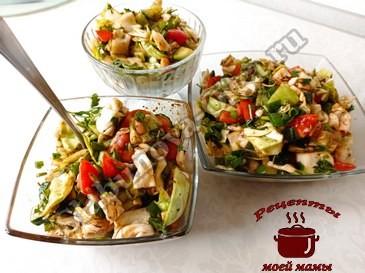 Простой салат из овощей