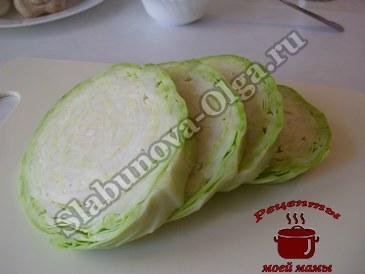 Капуста в духовке, режем капусту